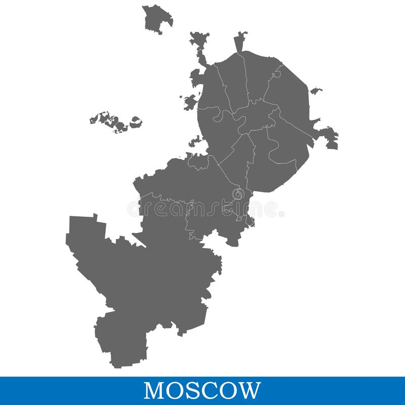 map of city of Russia vector illustration