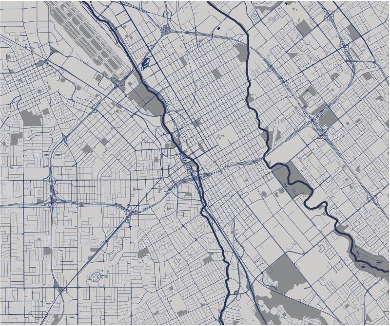 Map of the city of San Jose, California, USA. Vector map of the city of San Jose, California, USA royalty free illustration