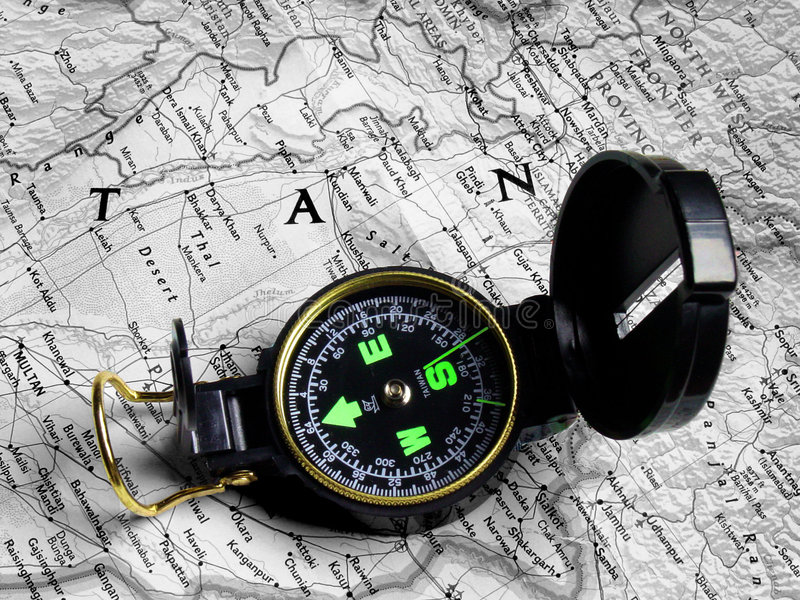 Download Map and compass 2 stock image. Image of journey, tour, navigation - 388119