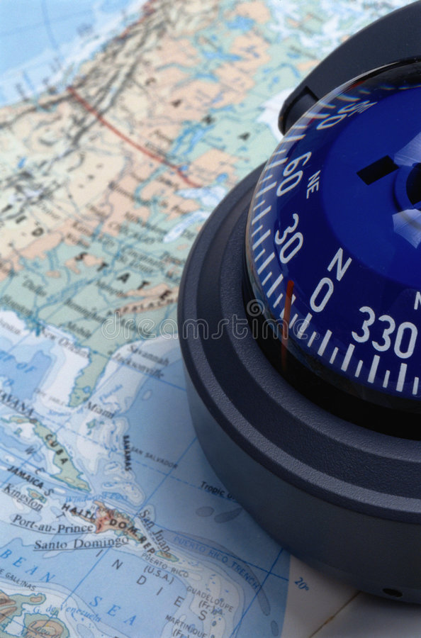 Download Map & Compass Royalty Free Stock Photo - Image: 716505