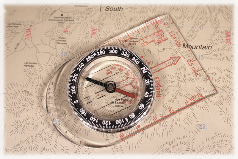 Map compass. Directional map compass royalty free stock images