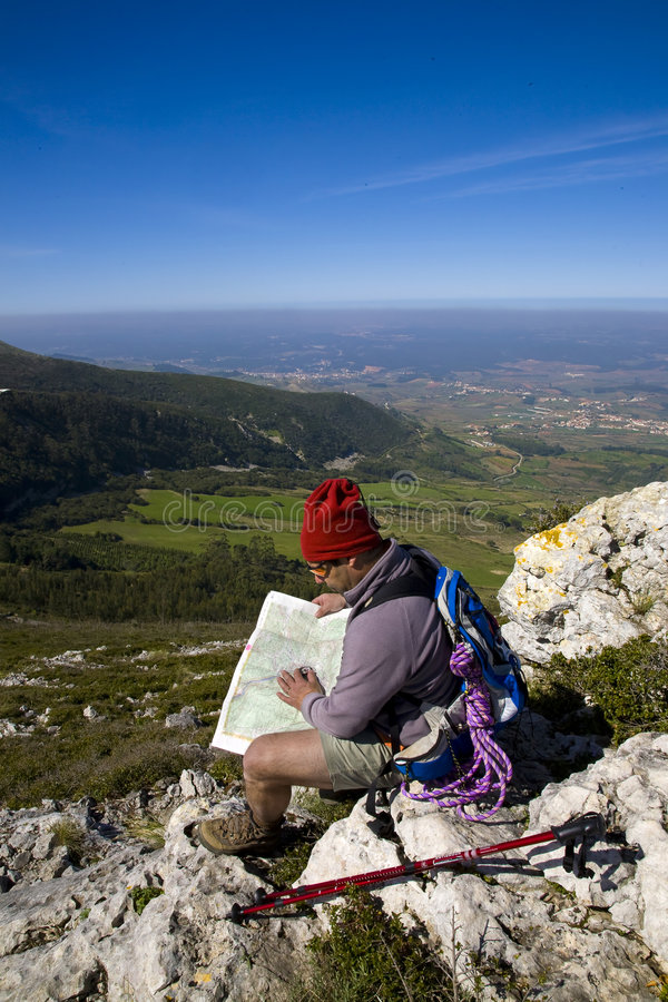 Download Map And Compass Orienteering Outdoors Stock Photo - Image: 8632434