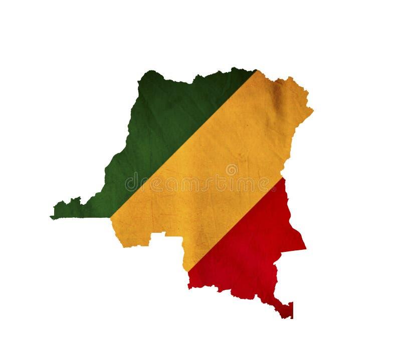 Map of Congo isolated stock image