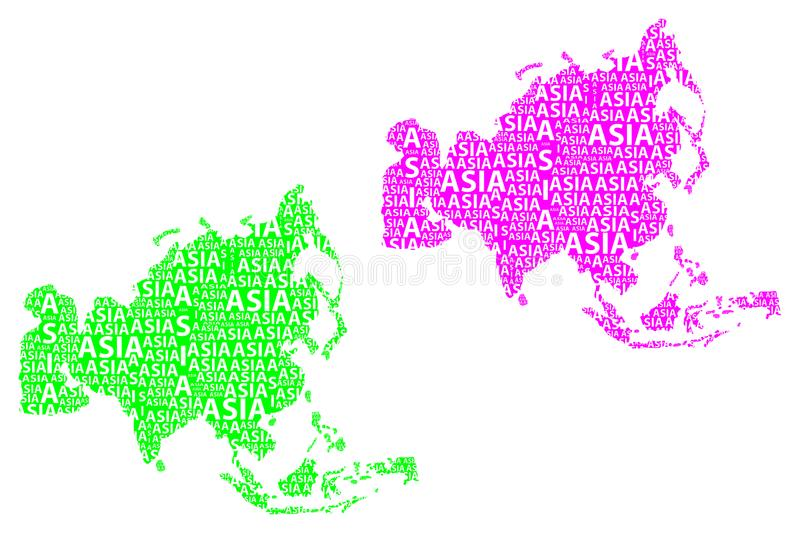 Map Of Continent Asia - Vector Illustration Stock Vector ...