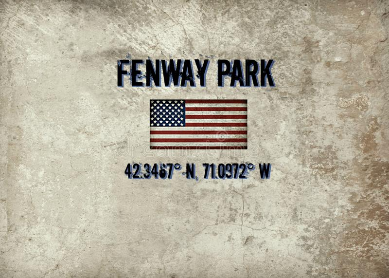 Fenway Park, Boston, MA stock illustration