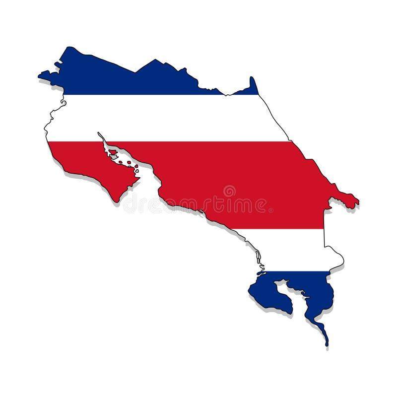 Costa Rica.Map of Costa Rica vector illustration vector illustration
