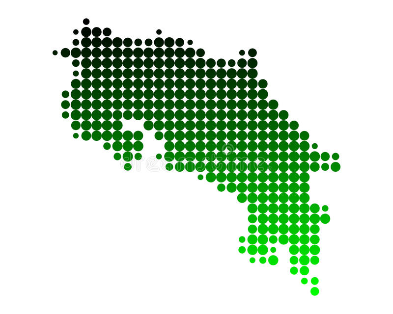 Map of Costa Rica vector illustration