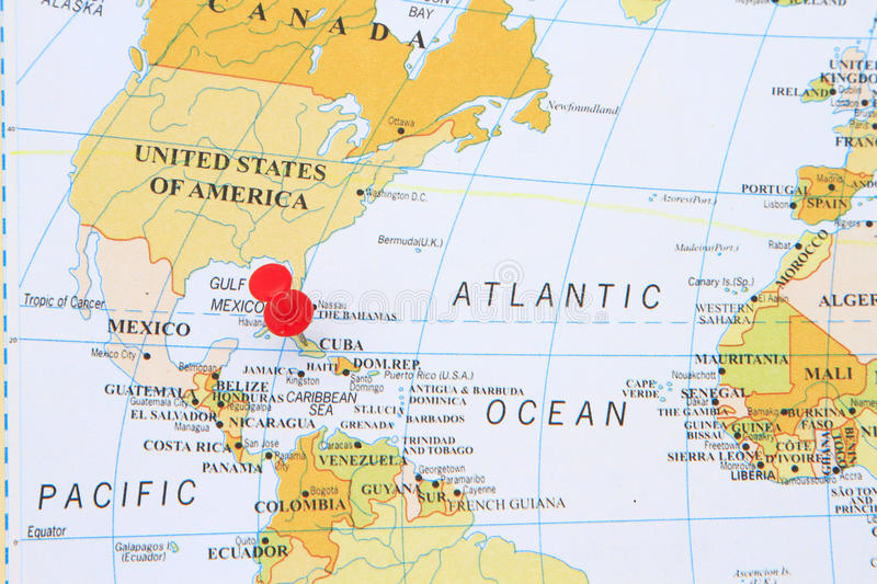 Map of Cuba stock images
