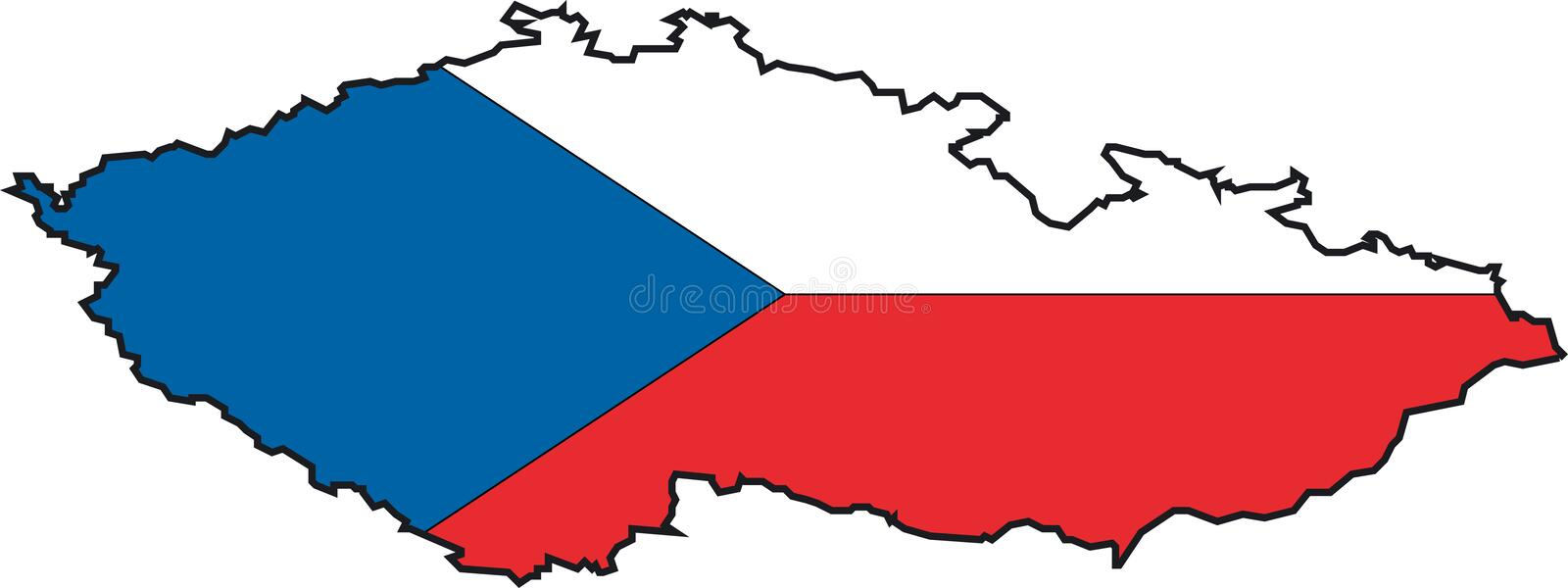Map Czech Republic-Vector Royalty Free Stock Image
