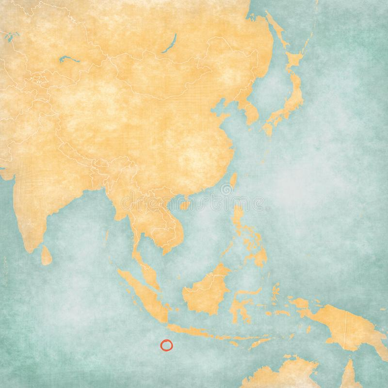 Map of East Asia - Christmas Island royalty free illustration