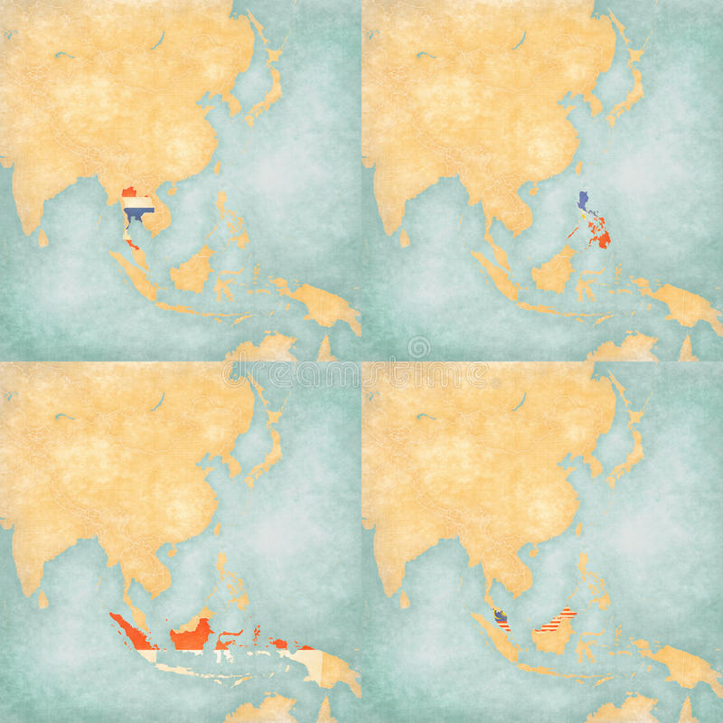 Map of east asia thailand philippines indonesia and malaysia download map of east asia thailand philippines indonesia and malaysia stock illustration gumiabroncs Choice Image
