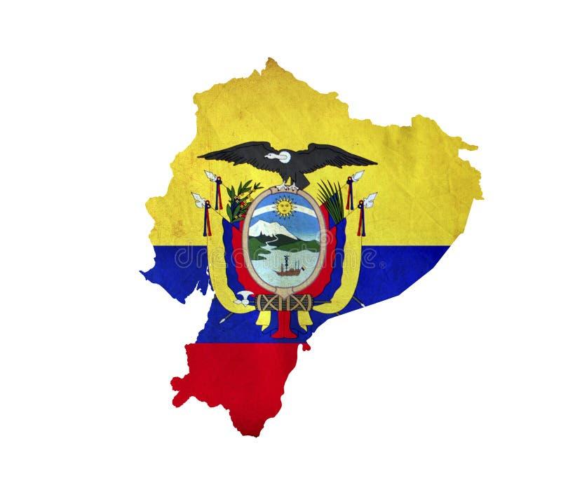 Map of Ecuador isolated stock photos