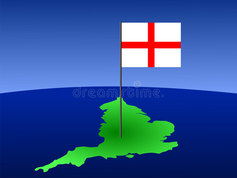Download Map of England with flag stock vector. Illustration of curve - 3100131