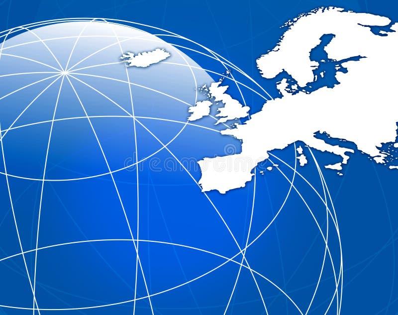 Download Map of Europe stock illustration. Illustration of global - 4250560