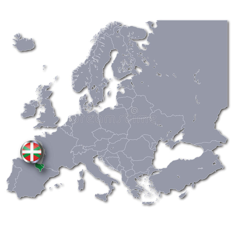 Map Of Europe With Basque Country Stock Image Image 58066293