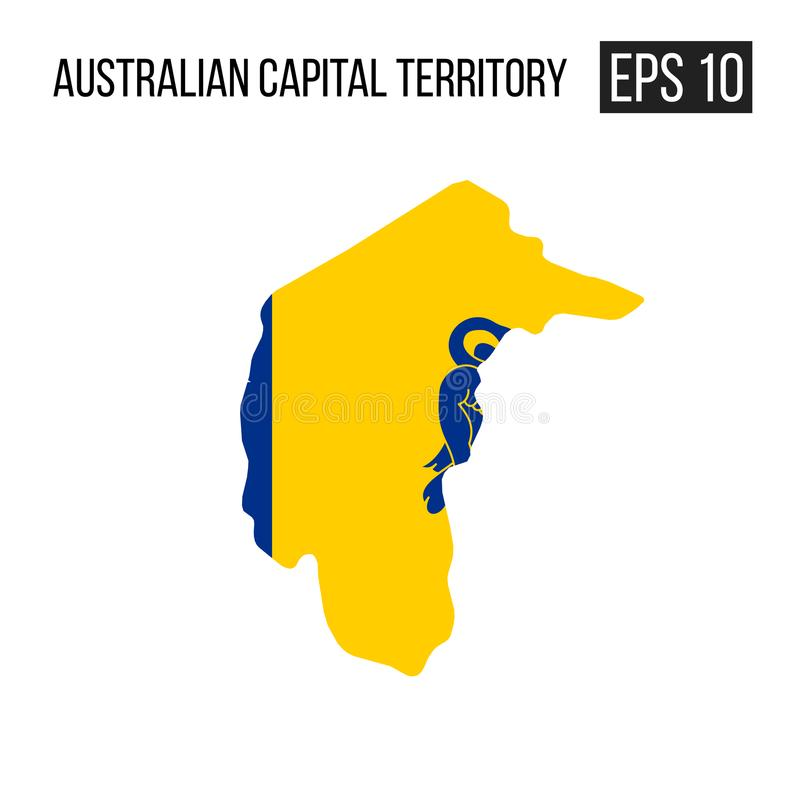 Map with flag. Australian capital territory map border with flag vector EPS10 stock illustration