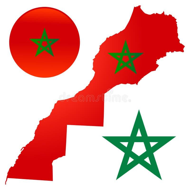 Map flag morocco vector illustration stock illustration