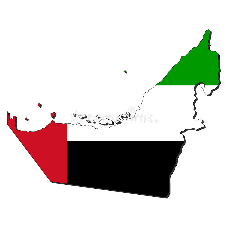Free Map Flag Of UAE Stock Photography - 7835252