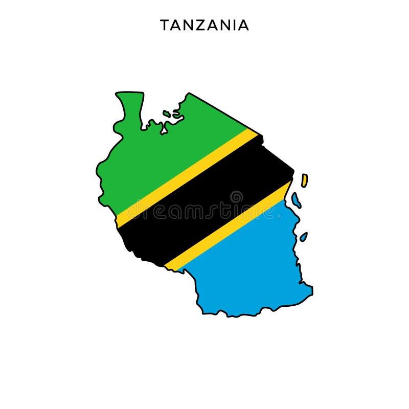 Tanzania Map Shape and Flag Design Tie Tack