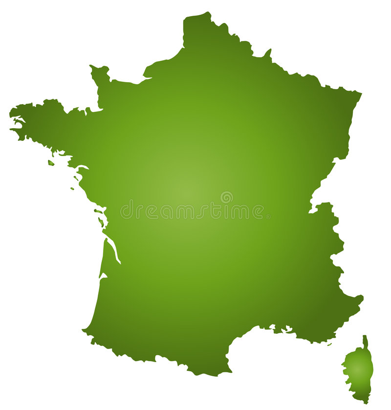 Map France royalty free illustration