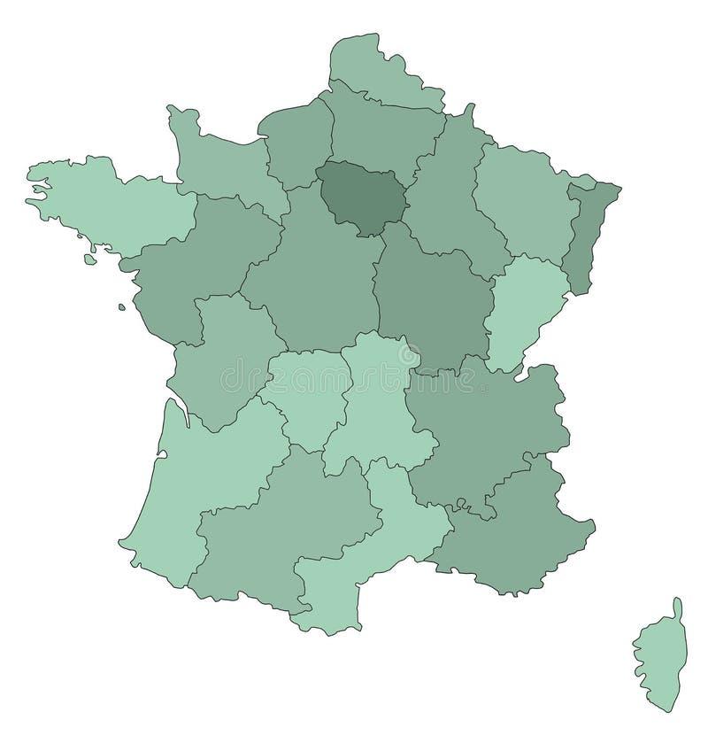 Download Map of France stock illustration. Illustration of normandy - 3324156