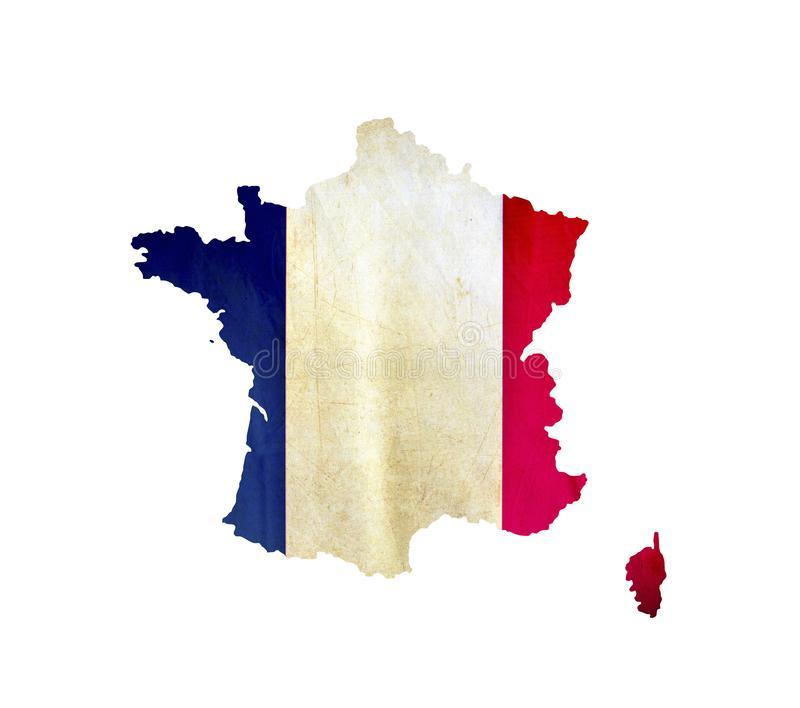 Map of France isolated royalty free stock image