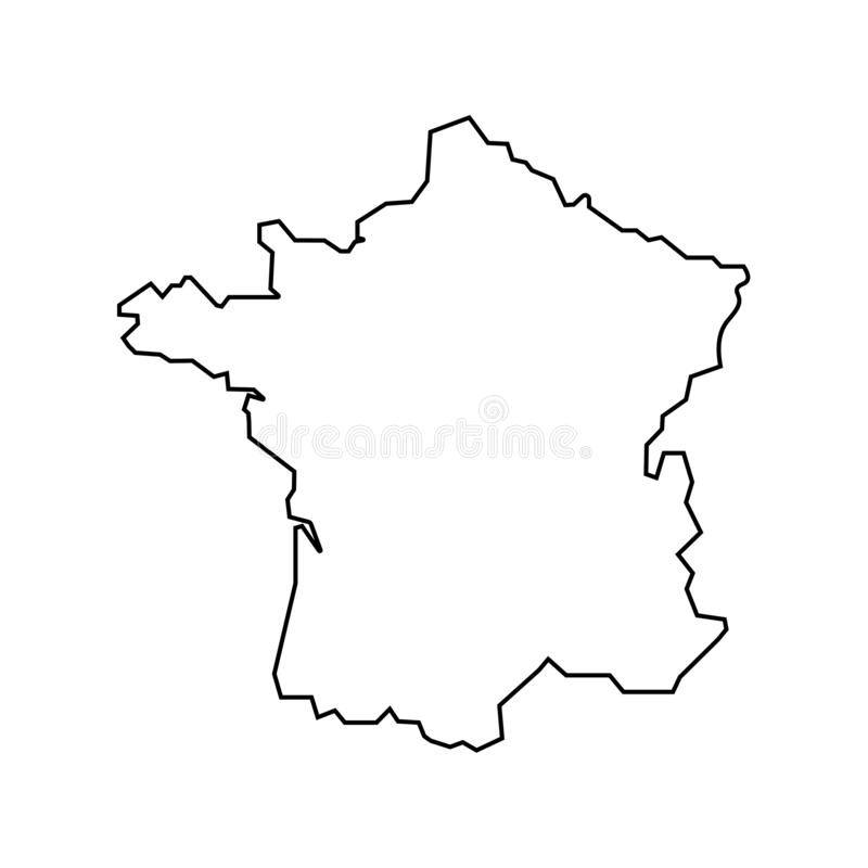Map of France sign. Fine lines eps ten. Map of France sign. Fine lines royalty free illustration