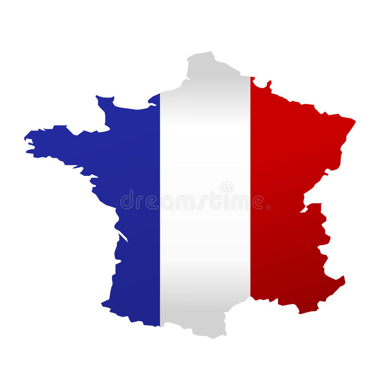Map of France vector illustration
