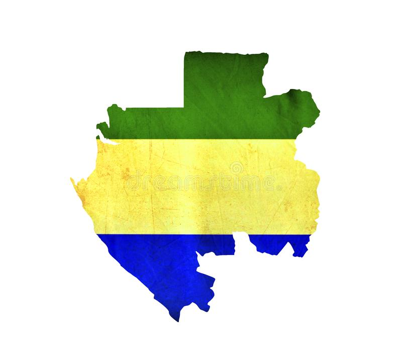 Map of Gabon isolated stock image