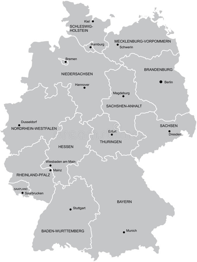 Map of Germany stock illustration