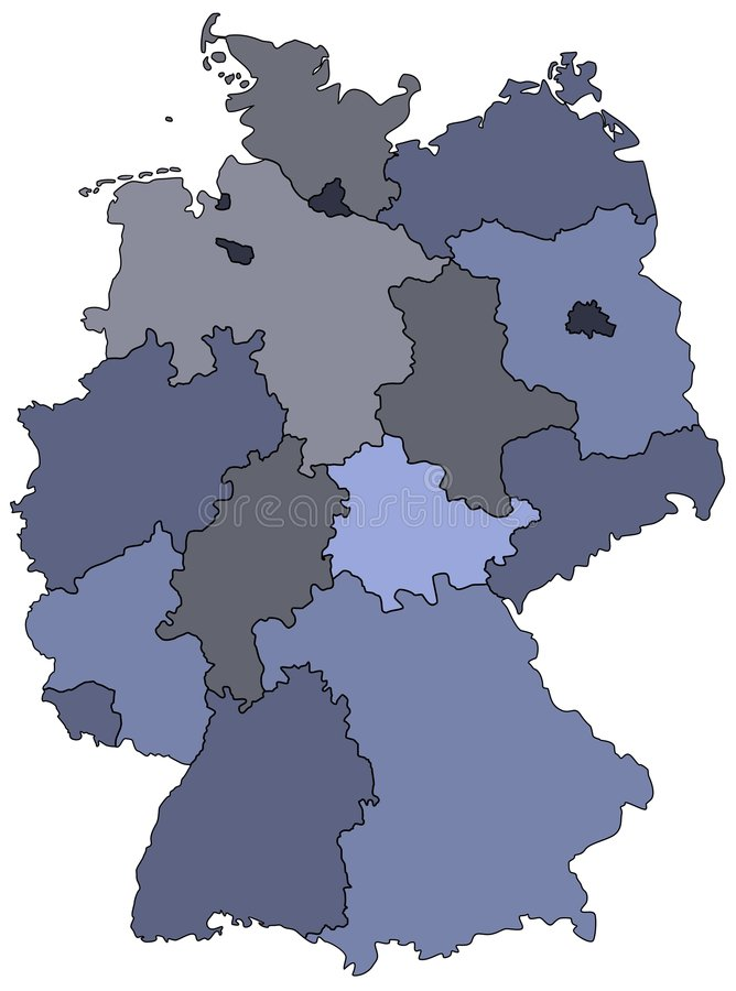 Map Of Germany Royalty Free Stock Image
