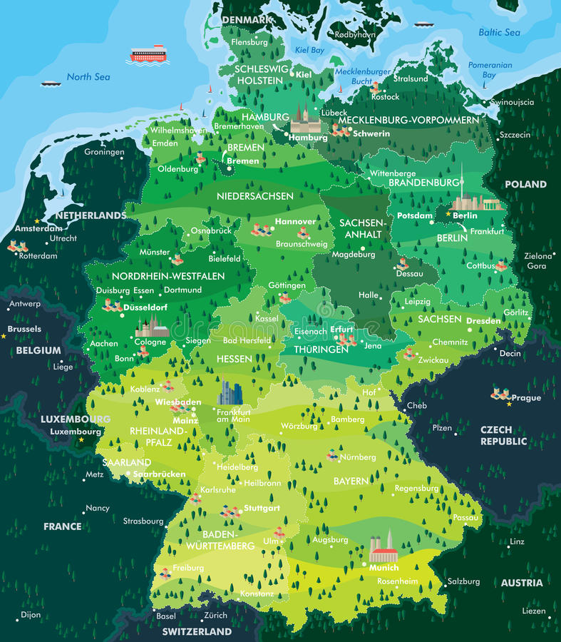 download map germany stock vector illustration of icon hesse 47999488