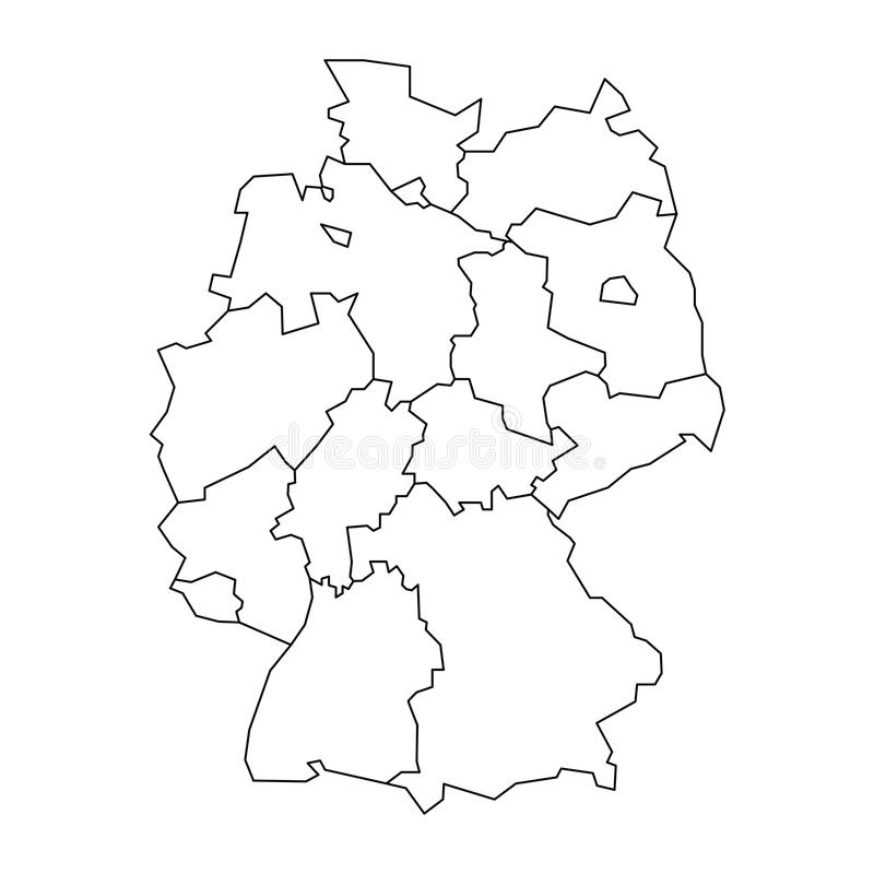 Map Of Germany Devided To Federal States And Citystates - Germany map bremen