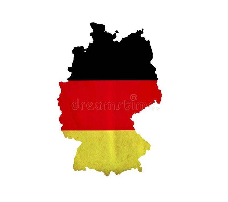 Map of Germany isolated royalty free stock photos
