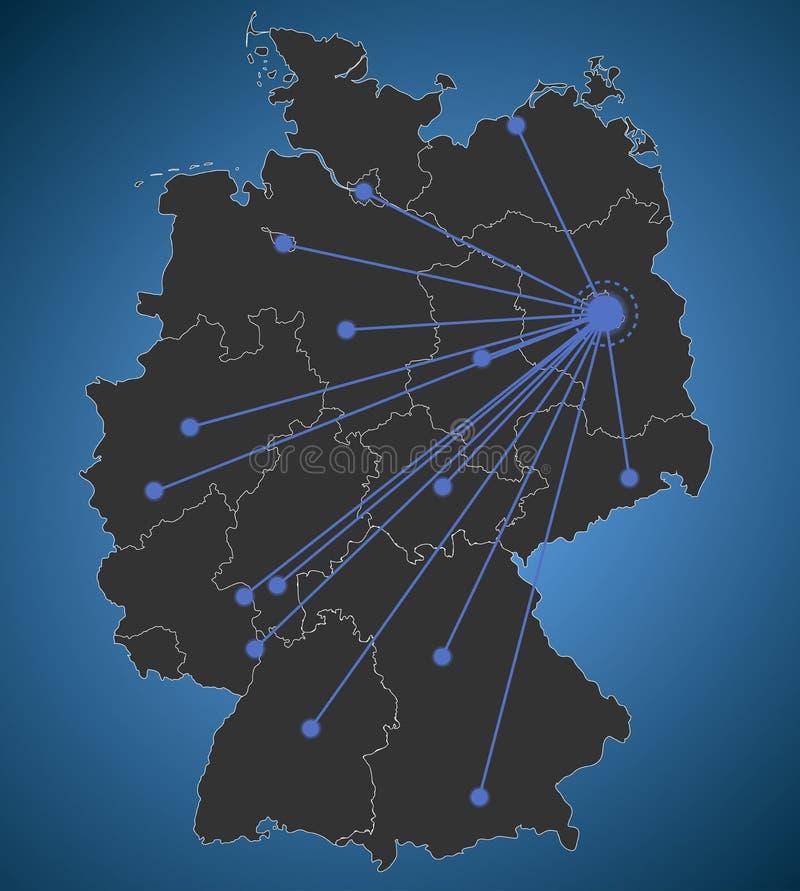 download berlin centered german map city network stock vector illustration of dortmund