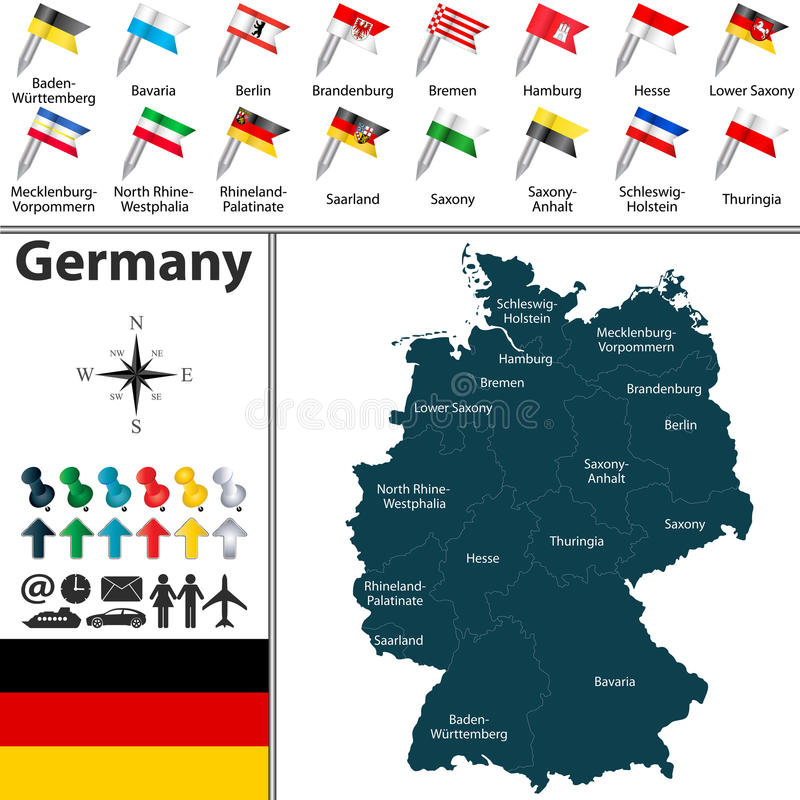 download map of germany stock vector illustration of republic 49054588