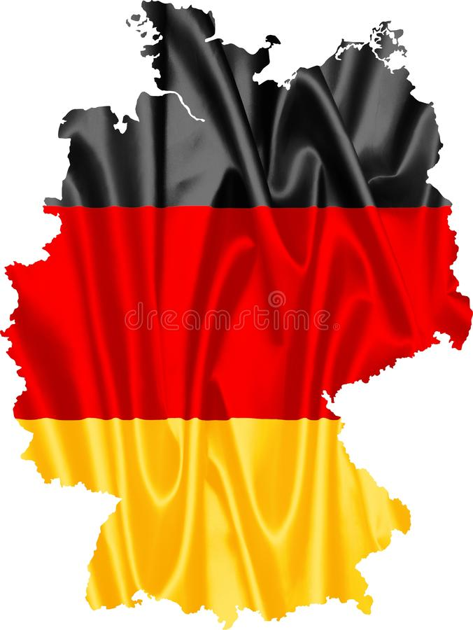Germany Map with Flag vector illustration