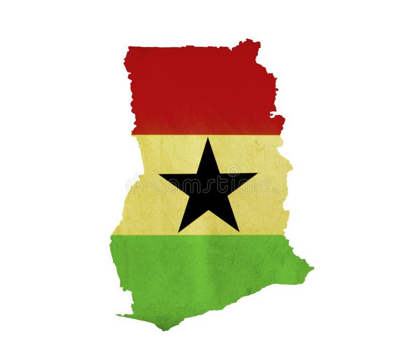 Map of Ghana isolated stock photo
