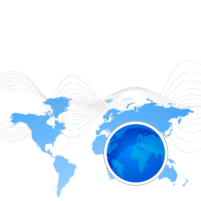 Download Map and globe stock vector. Illustration of world, linked - 4442370