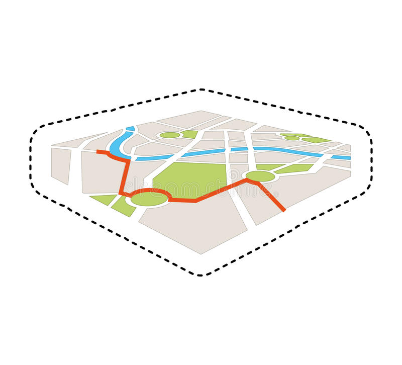 Map gps service icon. Illustration design vector illustration