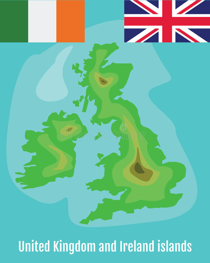 Map Of Great Britain And Ireland Stock Vector Illustration - Map of great britain and ireland