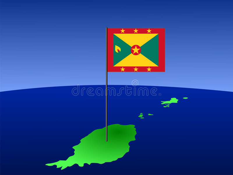 Map Of Grenada With Flag Stock Vector Image Of Atlas - Grenada map download