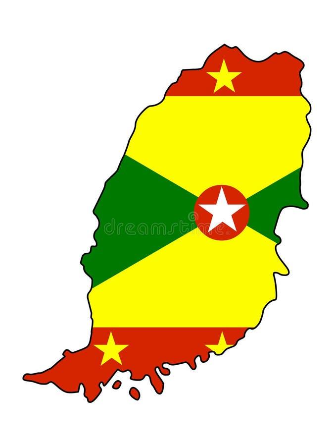 Grenada.Map of Grenada vector illustration royalty free illustration