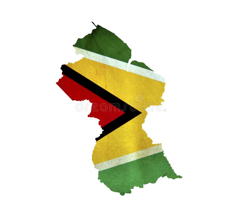 Map of Guyana isolated royalty free stock photography