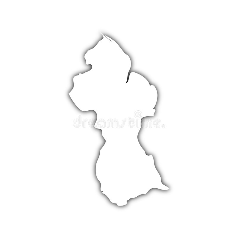 Map Of Guyana With Shadow Royalty Free Stock Image Image 8824846