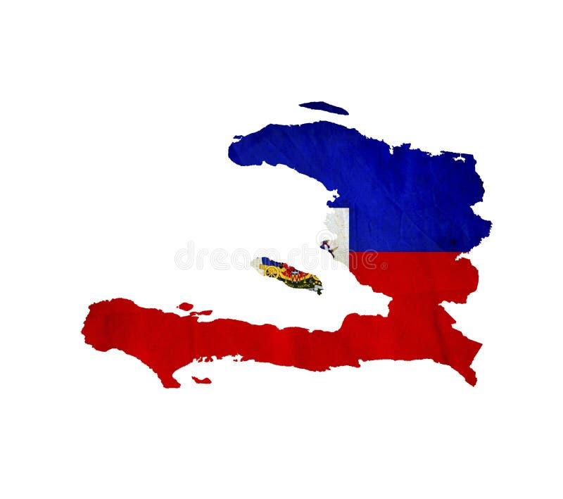 Map of Haiti isolated royalty free stock photo