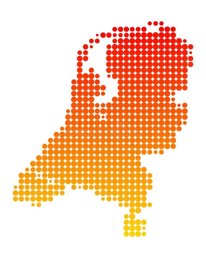 map holandie ilustracji
