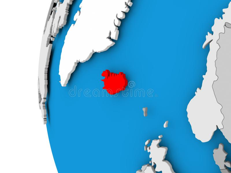 Map of iceland on political globe stock illustration illustration download map of iceland on political globe stock illustration illustration of international political gumiabroncs