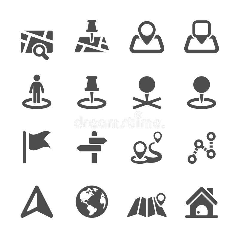 Map icon set 2, vector eps10 stock illustration
