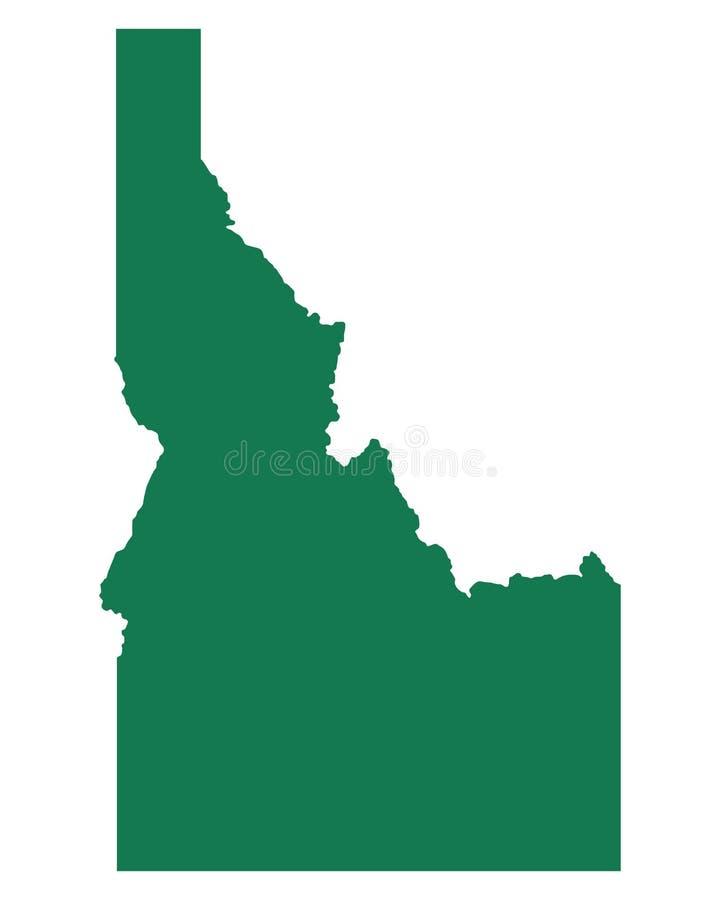 Map of Idaho vector illustration